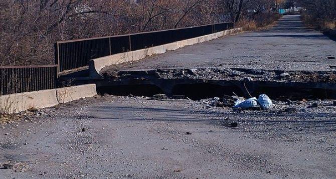 В самопровозглашенной ЛНР разрушены 19 автомобильных мостов и путепроводов