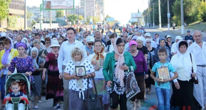 В Луганске прошел Крестный ход во славу города (фото)