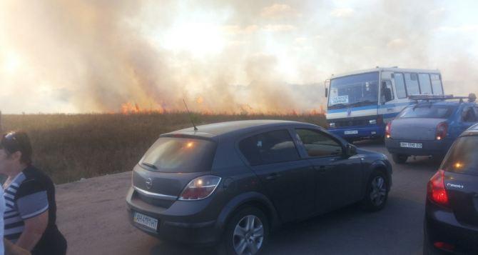 Вблизи КПВВ «Марьинка» взорвалась бомба