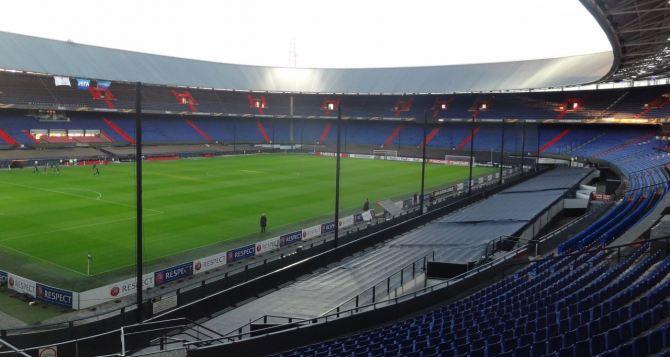Предматчевая тренировка луганской «Зари» в Роттердаме (фото)