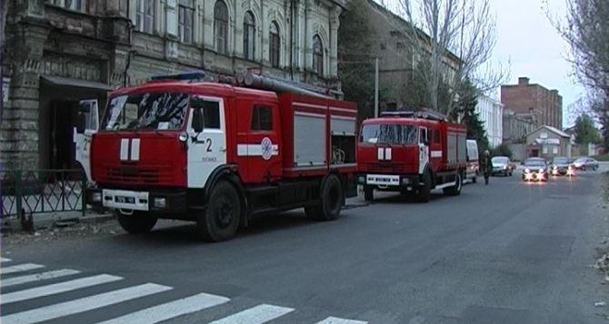 В Луганске произошел пожар во Дворце детского творчества (фото)