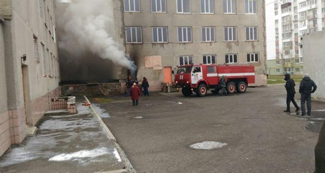 ВХарькове горела поликлиника