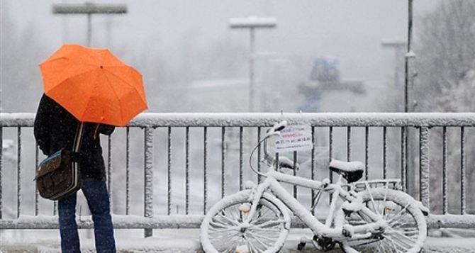 В Украину идут снегопады