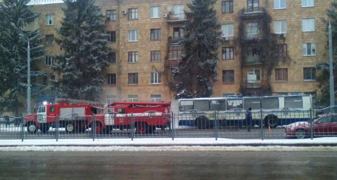 Вцентре Харькова находу зажегся троллейбус