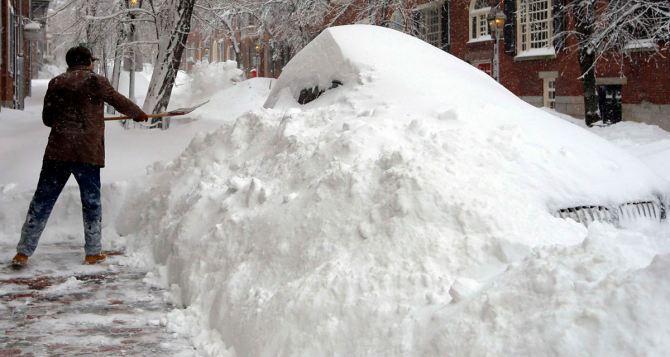 В Харькове выпало рекордное количество снега