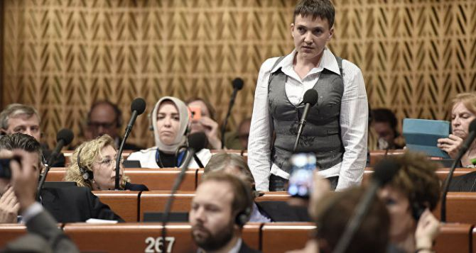 Савченко хотят исключить из делегации в ПАСЕ