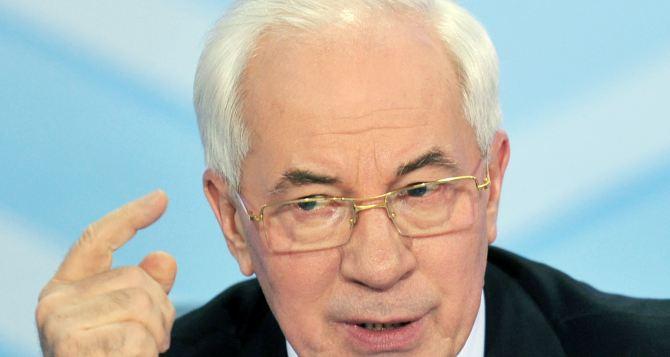 Азаров допустил создание правительства Украины в изгнании