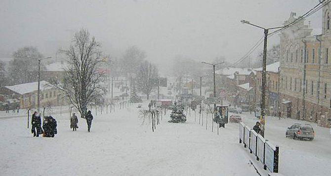 В Харьковской области выпало почти полметра снега