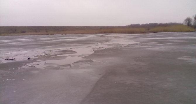 В Антрацитовском районе провалился под лед и утонул рыбак