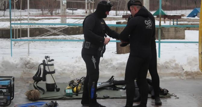 В ЛНР обследовали дно водоемов, определенных для Крещенских купаний (фото)