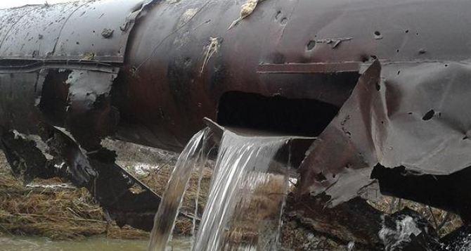 Южнодонбасский водопровод под Ясиноватой попал под обстрел