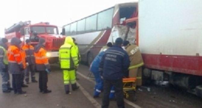 В Липецкой областиРФ в ДТП попал автобус с украинцами