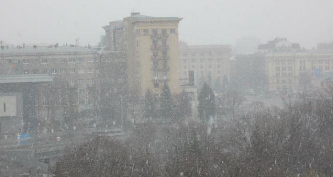В Харькове снегопад