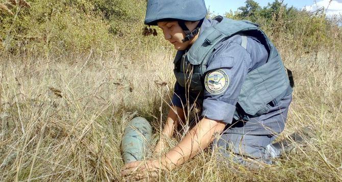 В Луганской области за неделю обнаружили 497 взрывоопасных предметов