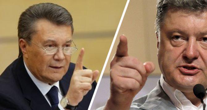 Янукович хочет допросить Порошенко