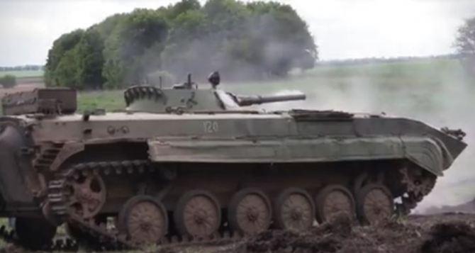 В Донецкой области прошли соревнования экипажей БМП