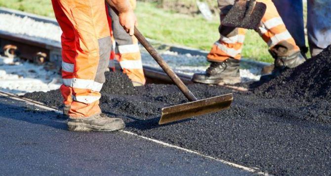 В Луганске за неделю отремонтировали 2400 кв. метров дорог