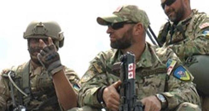 Грузинский легион провел учения под Харьковом