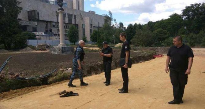 В саду Шевченко в Харькове обнаружили минометную мину (фото)