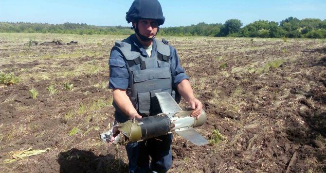 В Луганской области за неделю обнаружили 655 единиц взрывоопасных предметов