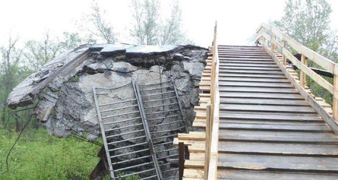 Вопрос ремонта моста у Станицы Луганской снова застопорился