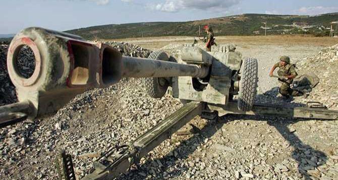 На луганском направлении применили артиллерию