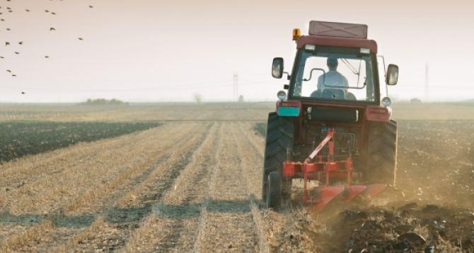 В поле под Луганском подорвался тракторист
