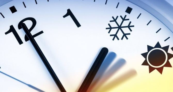 Украина переходит на зимнее время 29октября