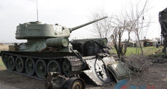 Легендарный танк Т-34 поврежден, а не уничтожен