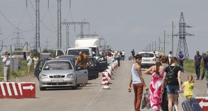 КППВ «Марьинка» обустраивают продолжая пропуск людей. Станица Луганская закрыта на обустройство до 8сентября