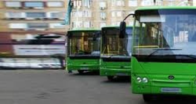 Два автобуса луганского ГКП будут перевозить пассажиров на троллейбусном маршруте №52 6октября