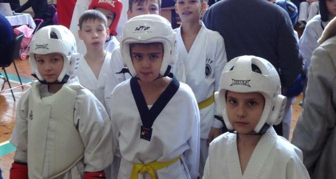 Юные призеры  в соревнованиях по тхэквондо
