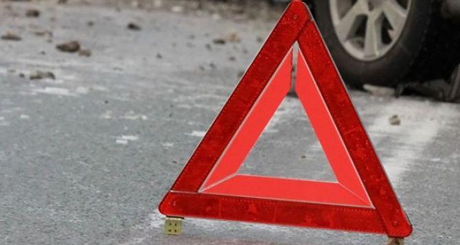 В Луганске столкнулись четыре автомобиля (Фото)
