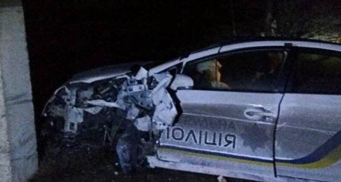 Спасая собаку, полицейский в Северодонецке, разбил патрульную машину и получил телесные повреждения. ФОТО