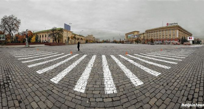 Взрыв на центральной площади Харькова. Есть пострадавший