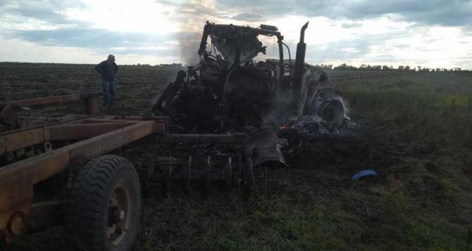 Трактор подорвался во время полевых работ на Луганщине. Травмированы двое мужчин (Фото)