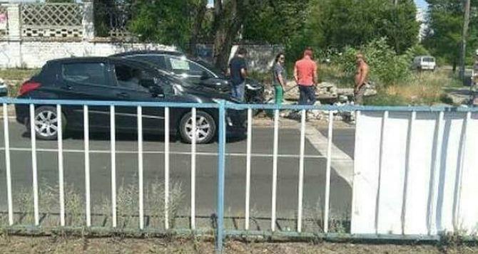 В Северодонецке разбили единственный в области автомобиль «Тесла»