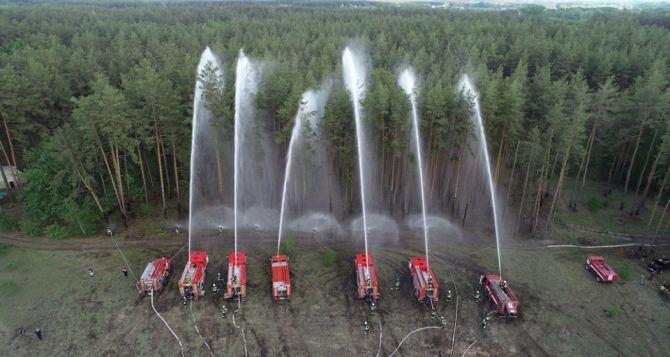 Башня с видеонаблюдением поможет бороться с пожарами в лесах Лимана