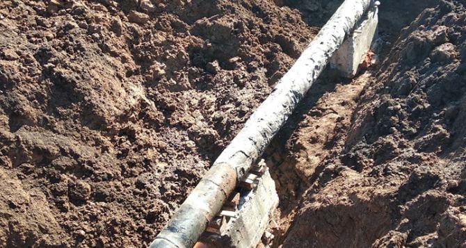 Коммунальщики завершили ремонт водопровода, поврежденного под Попасной