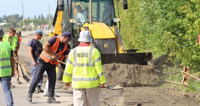 В ЛНР дали «добро» украинской стороне на работы под мостом. Начата подготовка к строительству обходного моста