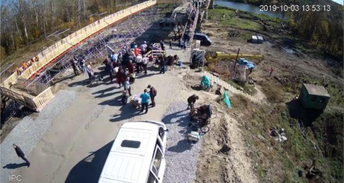 Как сейчас выглядит временный обводной мост на КПВВ «Станица Луганская» ФОТО. ВИДЕО
