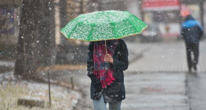 Синоптики предупреждают о налипании мокрого снега сегодня днем