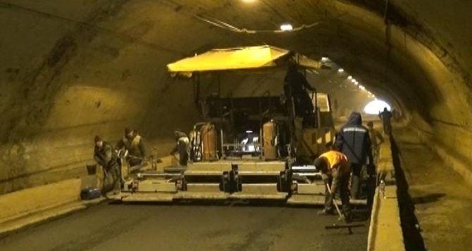 Ремонтные работы в автомобильном тоннеле Алчевска завершены. ФОТО