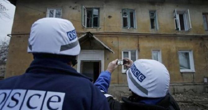 ОБСЕ обнаружила неразорвавшийся снаряд на дороге в Луганской области