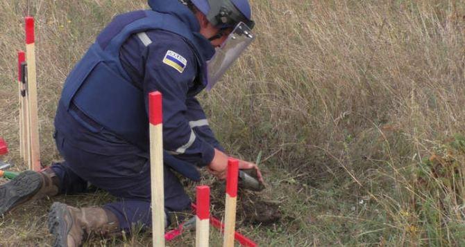 В Луганской области при разминировании пиротехники нашли авиационную бомбу