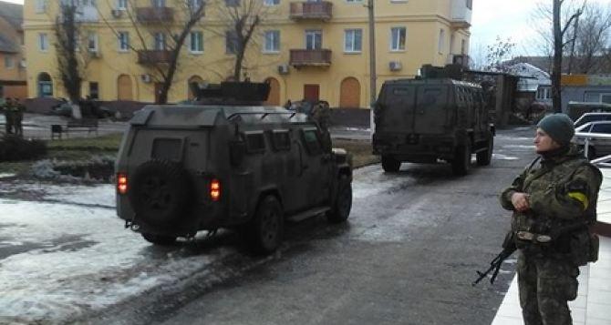 Полиция и Нацгвардия провели рейд по Станично-Луганскому району вдоль линии разграничения