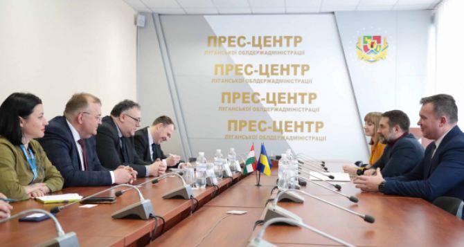 Посол Венгрии посетил Луганщину: обсуждали перспективы сотрудничества