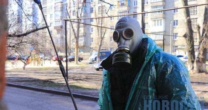 Как в Славянске проводят дезинфекцию подъездов