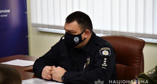 У Луганской полиции появились маски с вышивкой. Цена такой маски пока неизвестна