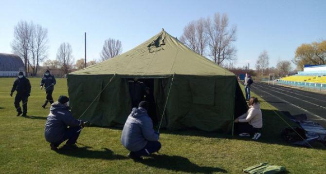 Разворачивать полевой госпиталь учились в Станице Луганской. ФОТО